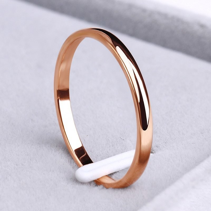 US $0.71 45% OFF|CACANA Stainless Steel Rings Rose Gold Anti Allergy Smooth Simple Wedding Couples Rings Bijouterie|Rings| - AliExpress