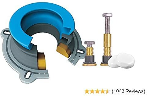 NEXT BY DANCO All-in-One Toilet Installation Kit | Perfect Seal Wax Ring & Zero Cut Bolts | Toilet Repair | Wax-Free | Mounting Toilet Bolts (10879X)