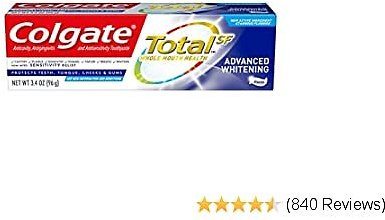 Colgate Total Whitening Toothpaste, Advanced Whitening, 3.4 Ounce (Pack of 1)