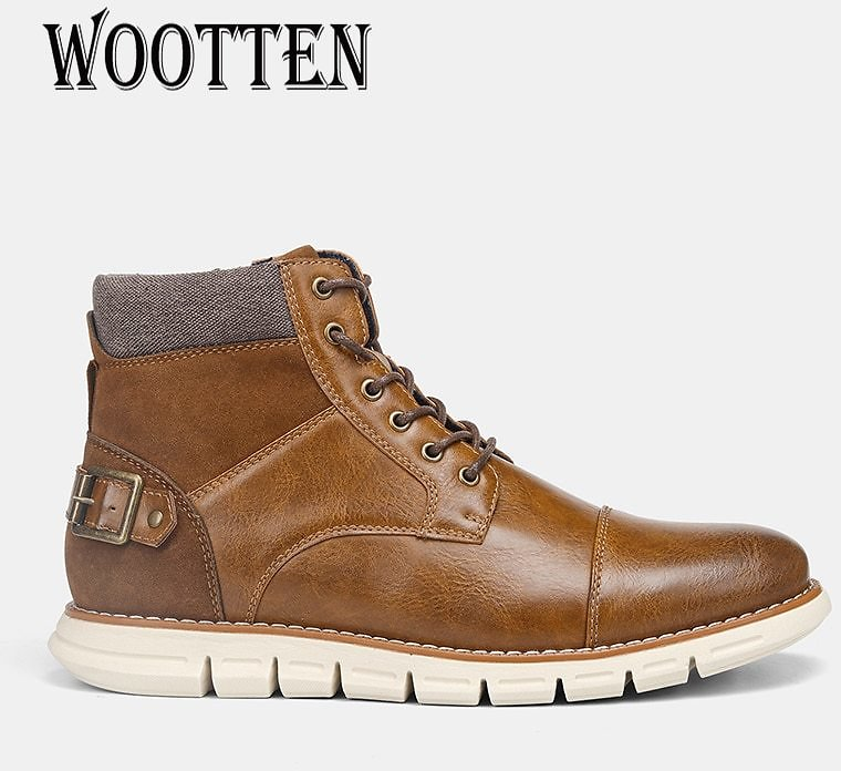 40-46 Brand Men Boots WOOTTEN Top Quality Men's Casual Shoes Handsome Comfortable Spring Retro Leather Boots #BY507C3