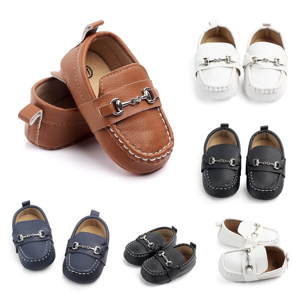 US $3.63 9% OFF|Leather Baby Boy Shoes Infant Sneaker Shoes Newborn First Walker Soft Soled Toddler Footwears for 0 1year Babiesобувь для малыш|First Walkers| - AliExpress