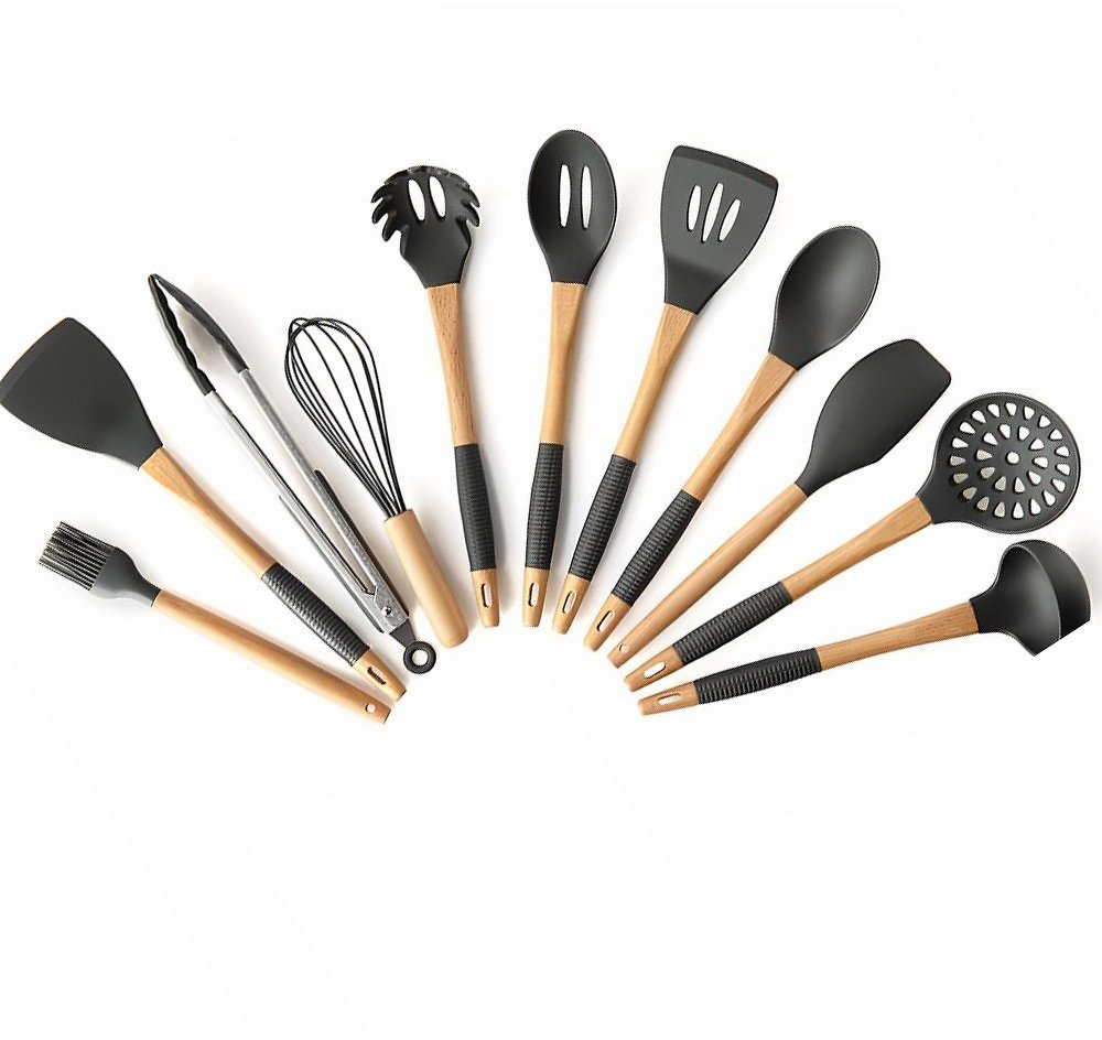 11Pcs Silicone Non-stick Cooking Utensils Set