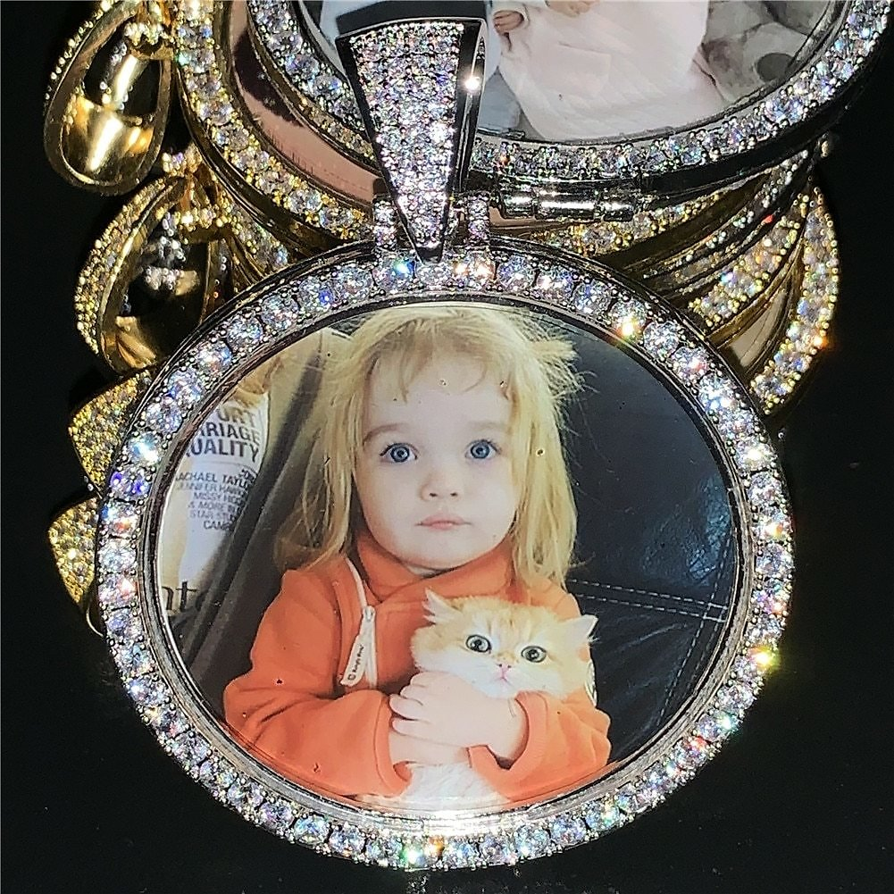 US $9.16 58% OFF|Custom Photo Memory Medallion Picture Pendant Necklace With Tennis Chain Hip Hop Jewelry Personalized Zirconia Chains Charm Gift|Customized Necklaces| - AliExpress