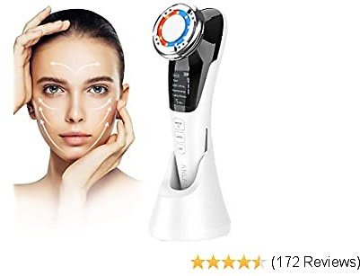 Face Massager,ANLAN Ultrasonic Facial Machine Electric Skin Care Beauty Device With EMS+Hot/Cold+Ionic+Red/Blue Light Therapy for Cleaning,Make-up Remover,Anti Aging,Wrinkle Removal,Skin Tightening