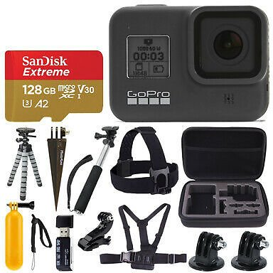 GoPro HERO8 Black Action Camera + SanDisk Extreme 128GB Memory Card & More! 818279023282