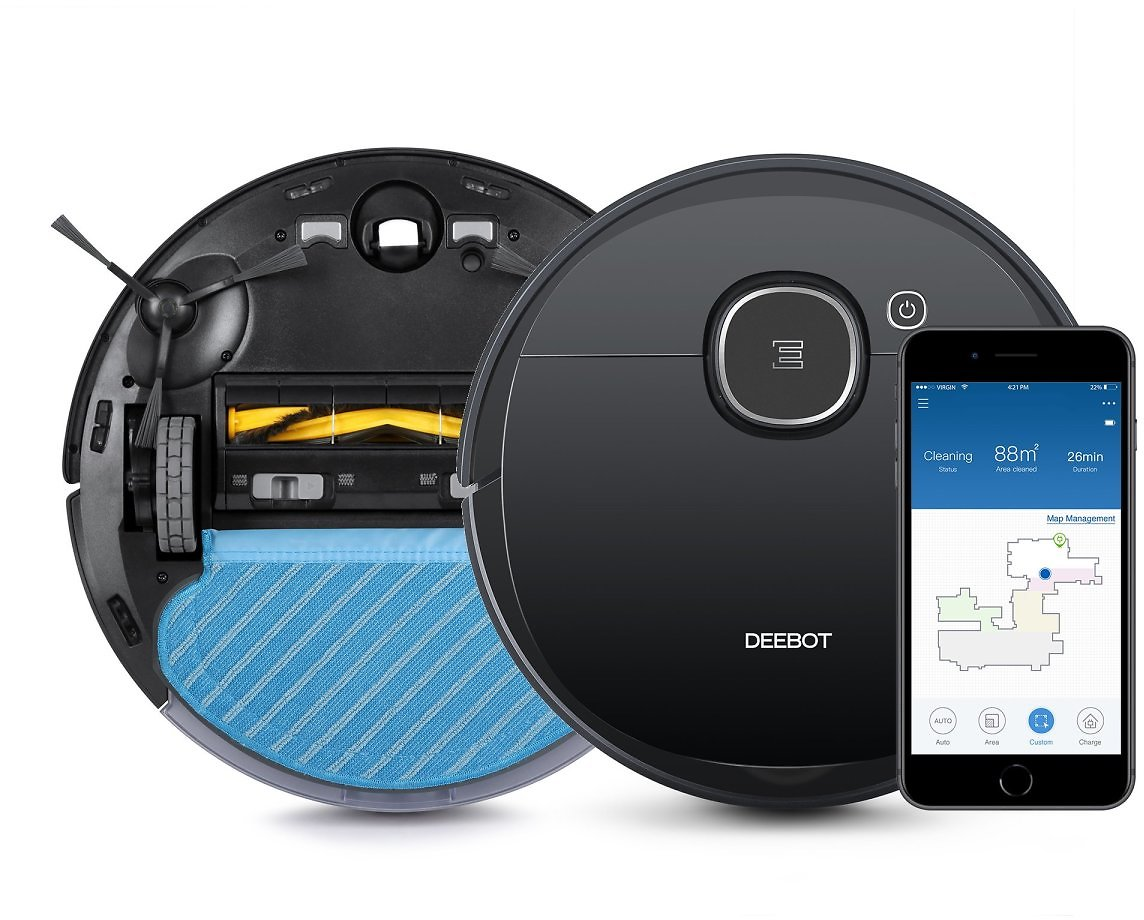 ECOVACS DEEBOT OZMO 920 Robot Vacuum Cleaner and Mop with WiFi & App