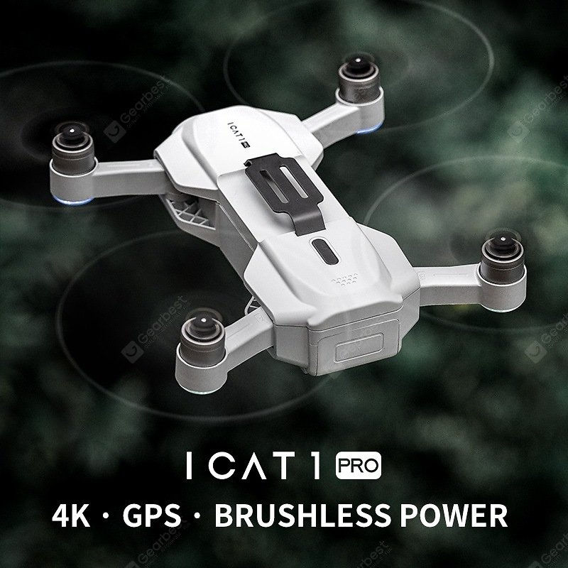 ICAT1 PRO Foldable GPS WIFI FPV RC Drone Quadcopter with 4K HD Camera Optical Flow Brushless Drone Sale, Price & Reviews | Gearbest