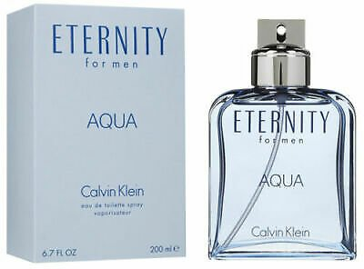 ETERNITY AQUA By Calvin Klein for Men Cologne 6.7 / 6.8 Oz Edt New in Box 3607342378353