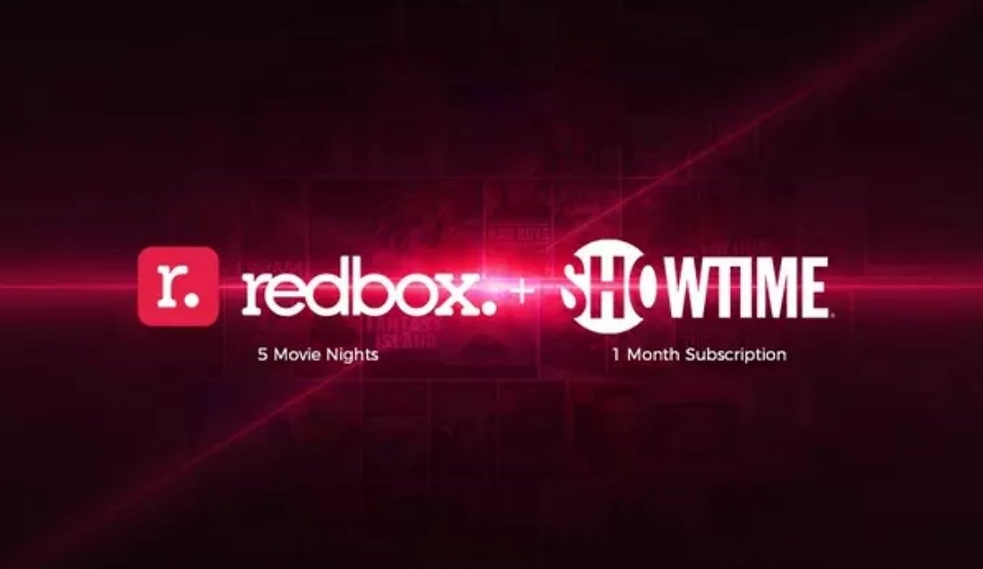 1 Month of Showtime + 5 Redbox Movie Nights