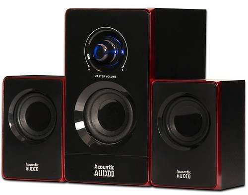 Acoustic Audio AA2103 Bluetooth Multimedia 2.1 Home Theater Computer Speaker System