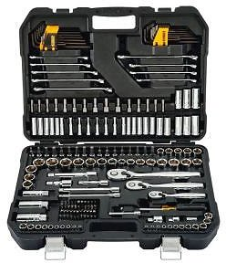 DEWALT 1/4 In., 3/8 In., and 1/2 In. Drive Polished Chrome Mechanics Tool Set (200-Piece)-DWMT75000