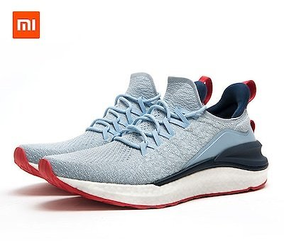 Original 2020 New Xiaomi Mijia Sneaker 4 Sports Shoes 4D Fly Woven Upper Highelastic Non-slip Lightweight Breathable - 44 Blue China