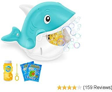 Bubble Machine for Kids Toddlers, Automatic Bubble Blower with Bubble Solution for Parties Weddings Outdoor Indoor, Bubble Maker Gifts Toys for 3 4 5 6 7 8 9 10 Year Old Boys and Girls