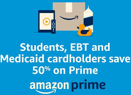 Discounted Amazon Prime for EBT and Medicaid Cardholders