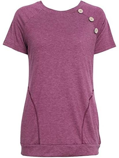 !54% OFF! $11.99 ONLY!! < Use Code:54UYR2CJ> Women's Casual Short Sleeve Tunic Tops