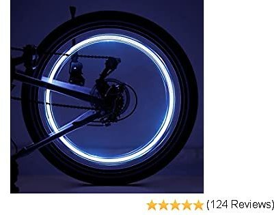 Tesoky 2-Tire Pack LED Bike Wheel Lights with Batteries Included, Get 100% Brighter and Visible from All Angles for Ultimate Safety & Style!