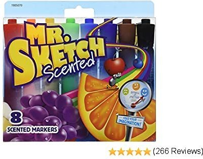 Mr. Sketch Scented Markers, Chisel Tip, Assorted Colors, 8/ Pack