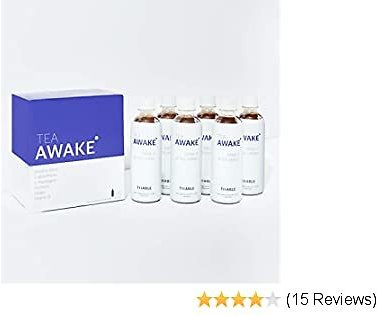Tiiable Awake: Hangover Tea 13.8oz (Pack of 6) - Natural Ingredients No Sugar Added - Turmeric, Ginger, Antioxidants, DHM - Great Taste