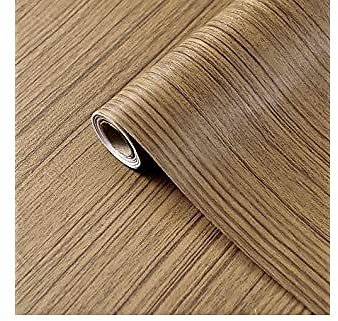 Coavas 3D Wood Wallpaper Peel and Stick Wallpaper Removable Paper Self-Adhesive 17.7
