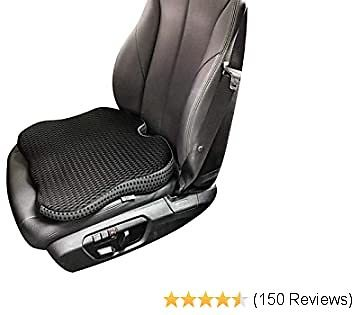 Dreamer Car Heightening Seat Cushion Pad for Car Driver Seat - Supportive and Comfortable Seat Cushion for Car Front Seat for Tailbone Pain Relief (Black)