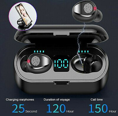 Wireless Bluetooth 5.0 Earbuds Headphone Headset Noise Cancelling TWS Waterproof