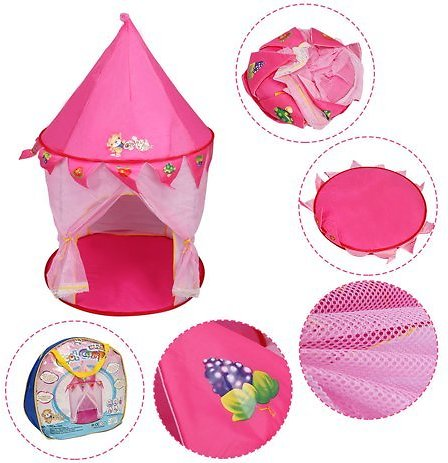 Goplus Portable Kids Baby Play Tent House Princess Castle In/Outdoor Foldable Gift