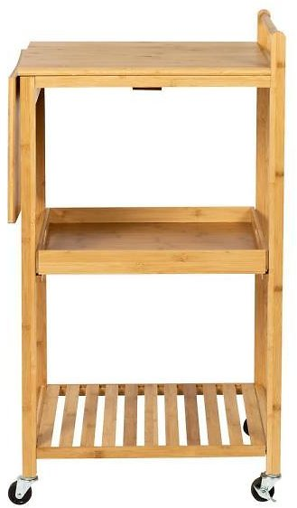 Honey-Can-Do Multi-Purpose Bamboo Kitchen Cart with Shelf-CRT-08453