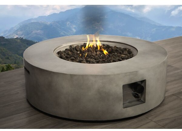 Grice Concrete Propane Gas Fire Pit Table