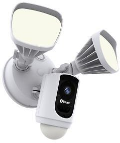 Swann Outdoor Wi-Fi Camera with Motion Activated Floodlight, White-SWWHD-FLOCAMW-US