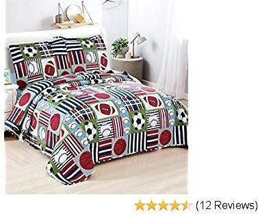 3Pcs Sports Quilts Set