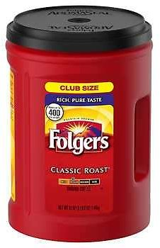 Folgers Classic Roast Coffee, Medium Roast, 51 Oz