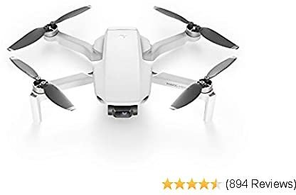 Drone FlyCam Quadcopter UAV with 2.7K Camera 3-Axis Gimbal GPS 30min Flight Time, Less Than 0.55lbs, Gray
