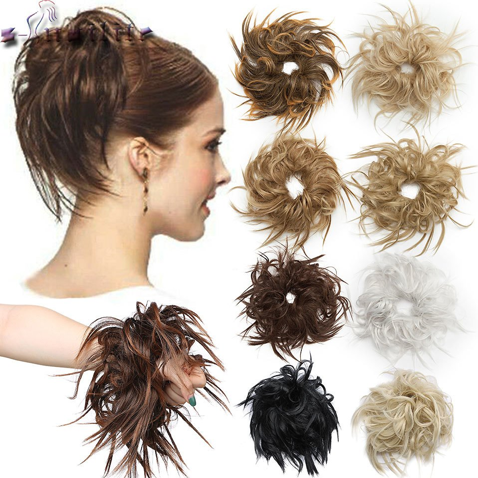 US $2.99 16% OFF|S Noilite Messy Hair Bun Tousled Hairpiece Elastic Band Chignon Hair Curly Scrunchie Updo Cover Synthetic Hairpiece for Women|Synthetic Chignon| - AliExpress