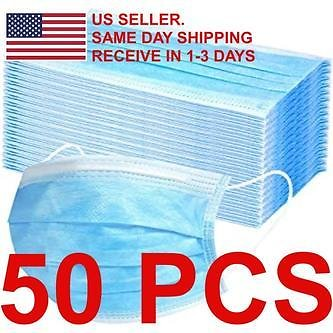 Bestselling Bestselling 50PCS Disposable 3-Ply Mouth/Nose Shield Face Mask with FDA and CE Mark.
