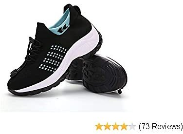 ZYEN Womens Walking Shoes Sock Sneakers Slip On Arch Support Mesh Breathable Running Tennis Shoes Casual Platform Loafers
