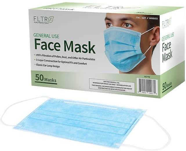 5-Pack FLTR General Use Face Mask (50-Count)