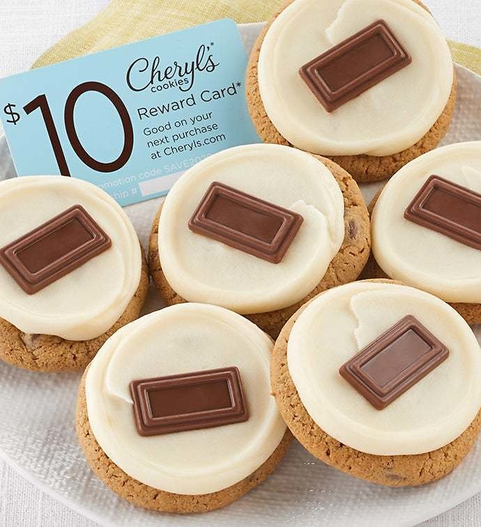Marshmallow Frosted Smore Cookie Sampler