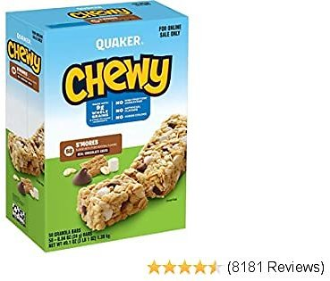 58-Pack Quaker Chewy Granola Bars, S'mores