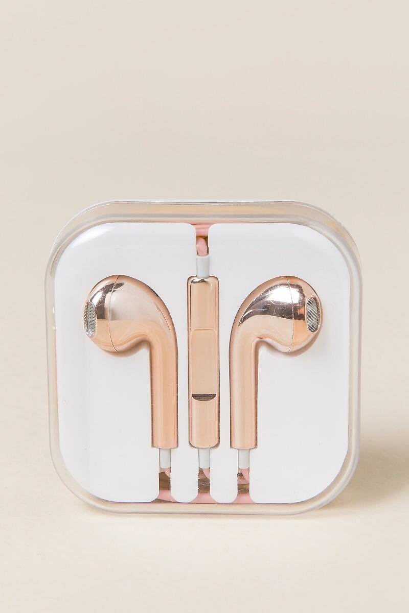 Rose Gold Earphones
