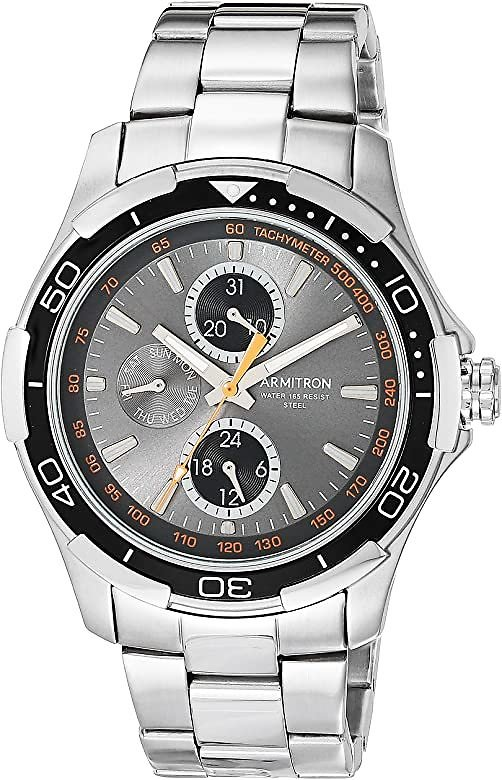 Men's Multi-Function Silver-Tone Bracelet Watch, 20/4677