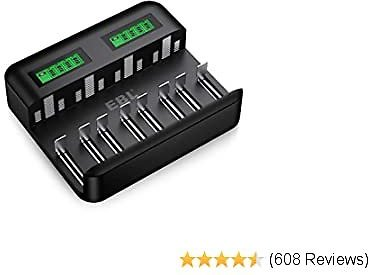 40%OFF EBL LCD Universal Battery Charger - 8 Bay AA AAA C D Battery Charger