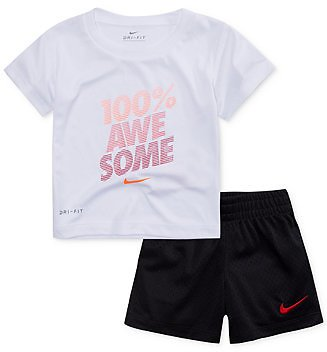 Nike 2-Pc. Awesome-Print Dri-FIT T-Shirt & Shorts Set, Little Boys & Reviews - Sets & Outfits - Kids