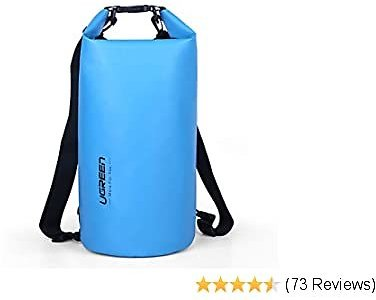 UGREEN Waterproof Dry Bag Backpack for Kayaking, Travel, Boating, Swimming, Water Sports, Water Proof Floating Storage Bag 10L for Camping, Fishing, Rafting, Hiking and Beach, Blue