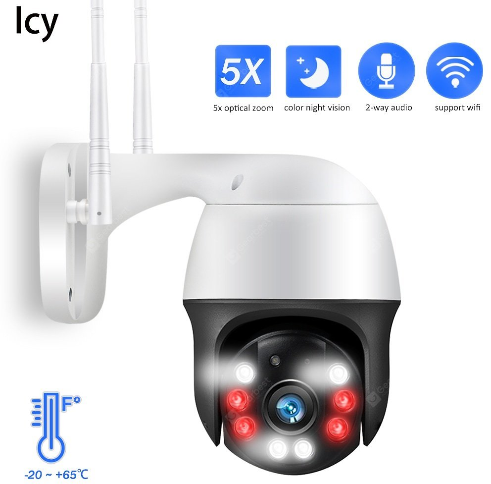 Icy 1080P PTZ IP Camera 5X Zoom Auto Metal Outdoor Wireless Wifi Security Camera 2MP HD Network Onvif Cam Sale, Price & Reviews | Gearbest
