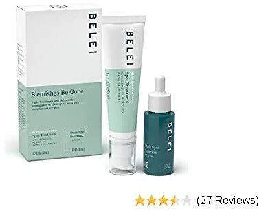 Belei By Amazon: 'Blemishes Be Gone' Duo Skin Care Starter Kit (Blemish Control Spot Treatment and Dark Spot Serum) Oily or Acne-Prone Skin Types