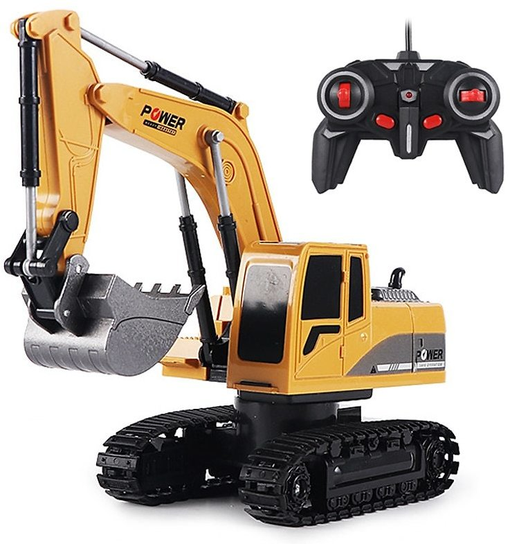 US $9.63 35% OFF|RC Excavator Toy 2.4Ghz 6 Channel 1:24 RC Engineering Car Alloy And Plastic Excavator 6CH And 5CH RTR For Kids Christmas Gift|RC Cars| - AliExpress