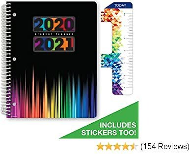 Dated Middle School or High School Student Planner for Academic Year 2020-2021 (Matrix Style - 8.5