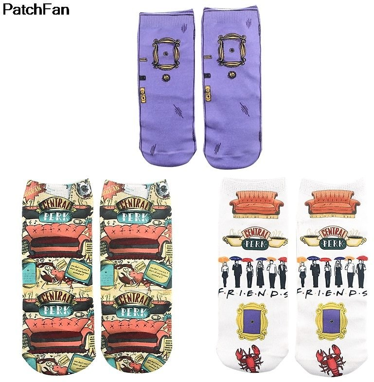 US $1.23 59% OFF|Patchfan Friend Tv Show Cosplay New Cartoon Anime Printed Women Socks Ankle Socks Kawaii Party Favor Cosplay Gift A2700|Party Favors| - AliExpress