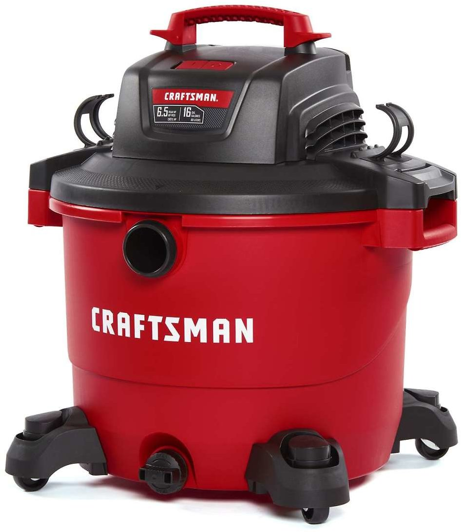 Craftsman 16 Gal. Corded Wet/Dry Vacuum 12 Amps 120 Volt 6.5 Hp Red 27 Lb. - Ace Hardware