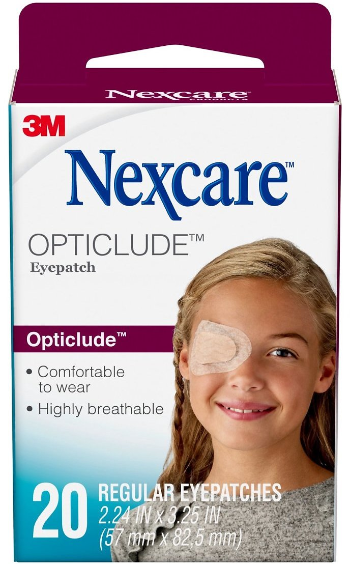 20-Count Nexcare Opticlude Comfort Eye Patch, Nude